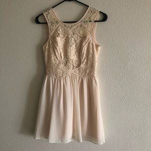 BCBGeneration Pale Peach Lace Dress